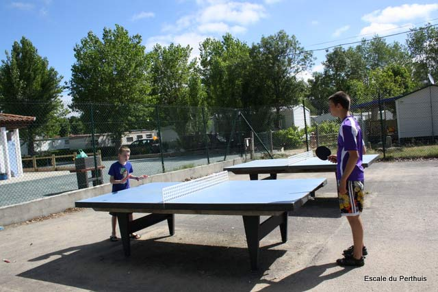 ping-pong du camping