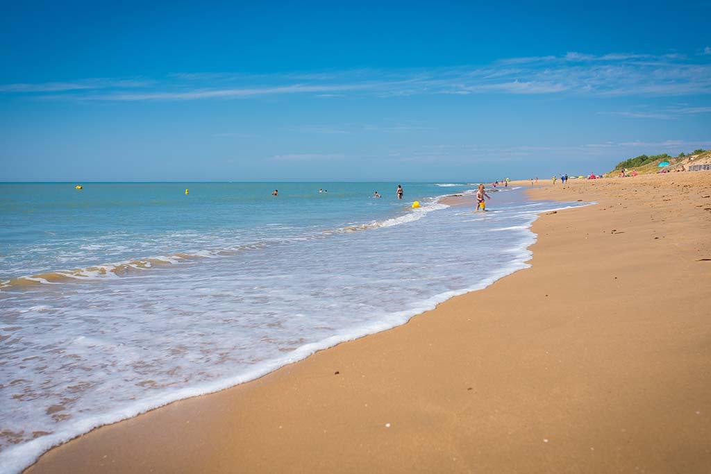 vue plage La Tranche sur Mer