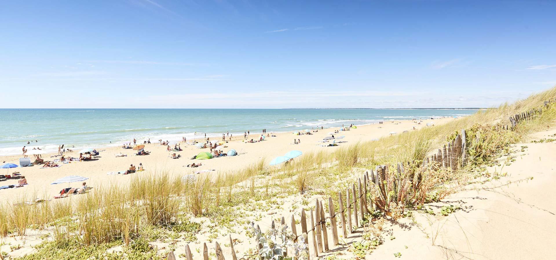 camping accès direct plage la tranche sur mer