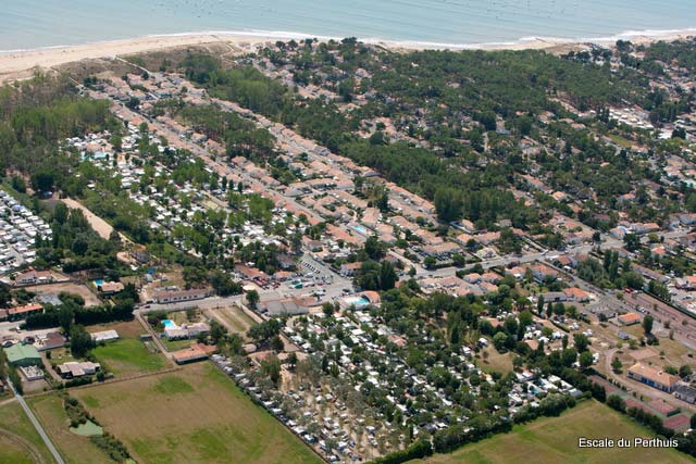 vue aérienne du camping