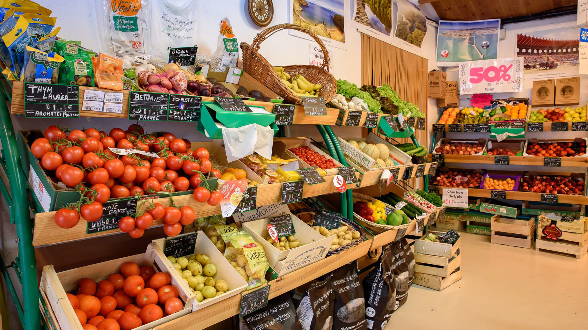 épicerie fruits et légumes