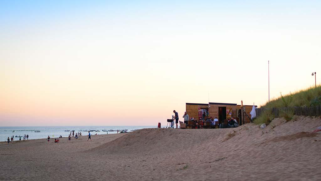 les plages le soir